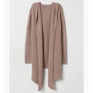 H&M Hooded Dusty Pink Cardigan